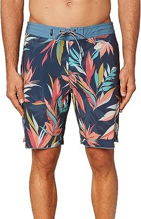 O'NEILL 男式防水弹力及膝游泳沙滩裤,裤长 19 英寸 | 中长款泳衣 |  Dark Blue / Quarters 40