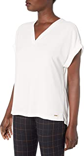 Calvin Klein 女士 V 领百搭衬衫