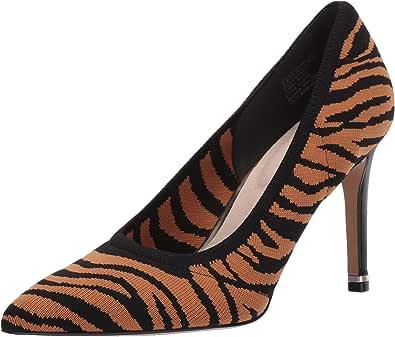 Kenneth Cole New York 女士 Riley 85 针织尖头高跟鞋 Natural/Black 6 M US