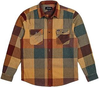 Brixton 男式保龄球标准版型长袖法兰绒衬衫