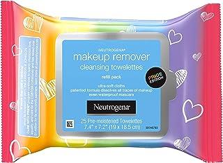 Neutrogena 露得清卸妆洁面湿巾,日常洁面湿巾,去除污垢、油脂、化妆品和防水睫毛膏,特殊版护理,25片
