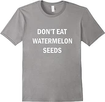 Don't eat watermelon seeds (White) T-Shirt 蓝灰色 Male XL