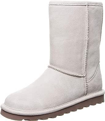 BEARPAW 女士 Elle 短冬靴 白色 .11 M US