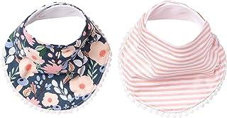 Baby Bandana Drool 围嘴 适用于水滴和出牙咬牙,2 件装时尚围嘴礼品套装,Copper Pearl 出品