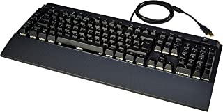 AmazonBasics - Programmierbare mechanische PC-Gaming-Tastatur | RGB-LED-Hintergrundbeleuchtung, US-Layout (QWERTY)