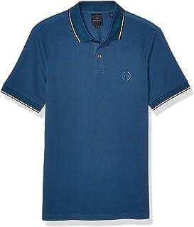 A X Armani Exchange 阿瑪尼男式短袖針織 Polo 衫