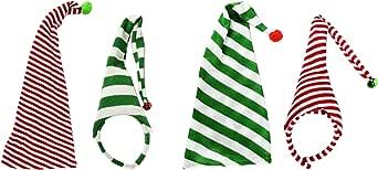 Black Duck Brand 圣诞老人精灵帽 2 件套! 圣诞聚会和礼品更换的完美之选! 4 Stockings
