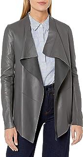 Mackage 女士丝绸露肩羊皮夹克