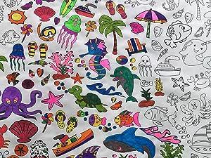 彩色桌 — 海洋时光趣味设计 8 件套