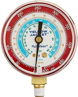 黄色夹克 49015 2-1/2 英寸规格(华氏度),红色压力,0-500 psi,R-22/134A/404A