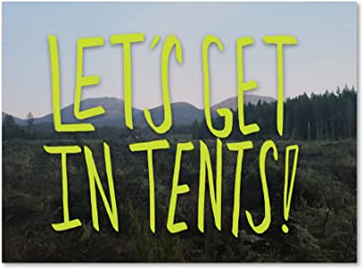 """Trademark Fine Art Let's Get in Tents Wall Decor by Leah Flores, 18"""" x 24"""""""