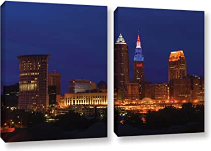 ArtWall 2-Piece Cody York's Cleveland 5 Gallery-Wrapped Canvas Set, 18 by 28-Inch