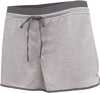 Layer 8 女式速干二合一跑步瑜伽锻炼短裤,内有压缩短裤