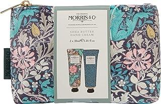 Morris & Co. 粉红色粘土和金银手部护理化妆包,带护手霜