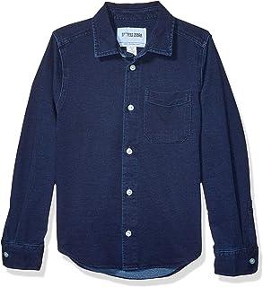 Amazon Brand - 斑点斑马男孩幼童和儿童针织牛仔衬衫