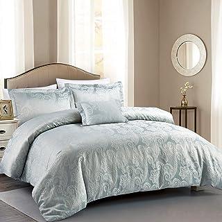 加利福尼亚设计 DEN hotel-paisley-luxe-cs 被子套装大号双人床银灰色