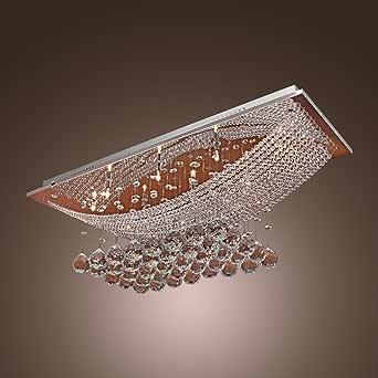 LightInTheBox 豪华水晶吊灯带 8 盏灯,天花板灯具嵌入式枝形吊灯带 LED 灯泡,适合厨房、餐厅、客厅