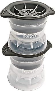 Tovolo 无泄漏,慢速融化的球形冰模,带硅胶密封盖,防倾倒,可堆叠威士忌,烈酒,白酒,鸡尾酒,苏打水等,2.5英寸(约6.35厘米)