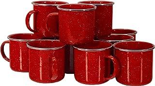 Texsport 12 盎司不锈钢红色珐琅咖啡杯(12 件套)(14575T)
