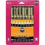 樱花 Pigma 微米墨水笔套装 黑色 8 Pen Set 30067