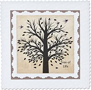 """3dRose qs_213104_2 Tree of Life Memorial in Budapest, Hungary Quilt Square, 6 x 6"""""""