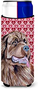 Newfoundland Hearts Love and Valentine's Day Portrait Michelob Ultra Koozies for slim cans LH9129MUK 多色 Slim