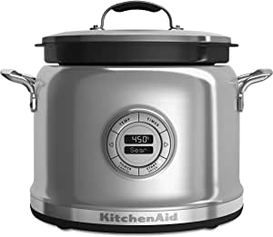 KitchenAid KMC4244SS Cooker with Stir Tower, Stainless Steel, Multicolor 需配变压器
