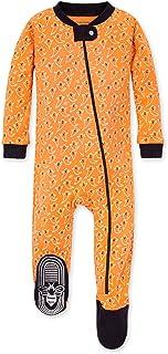 Burt's Bees Baby 男婴中性款睡衣,前拉链防滑连脚睡衣,*棉