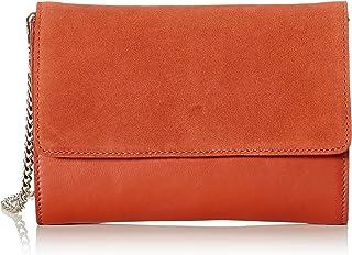 PIECES 女士 Pchilda 皮革斜挎包,4 x 16 x 21 厘米
