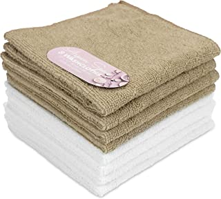 Aspen 卸妆超细纤维布(30.48 x 30.48 厘米) 水疗毛巾,女式节日礼物(8 件装) 12 x 12 Inch