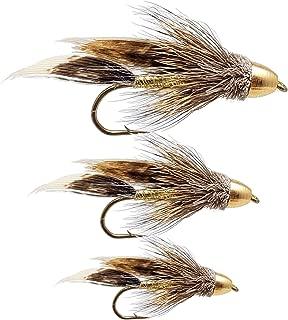 The Fly Crate Conehead Muddler 鲦鱼飘带苍蝇分类   鳟鱼鲈鱼飞钓