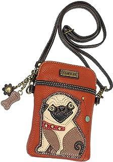Chala Pug Cellphone Crossbody Handbag - Convertible Strap