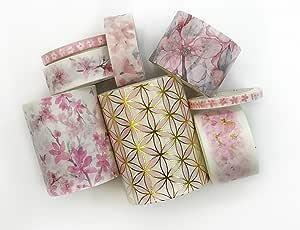 优雅樱花水洗胶带套装。 剪贴簿、礼品包装、工艺品、装饰和 DIY 贺卡
