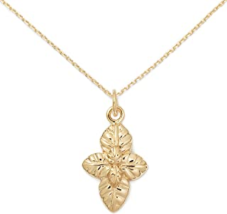 Delicacies Jewelry Basil Foodie 项链 14K 金