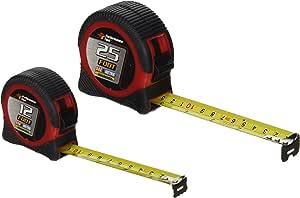 高性能工具测量胶带/车轮 25' & 12' SAE & MET Combo W5124BP