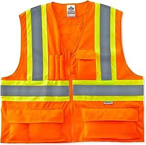 Ergodyne GLoWear Class -2 双色 X 背背心,橙色 L/X-L 8235ZX