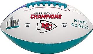 Rawlings 2019-2020 官方装饰 NFL *碗 54 冠军堪萨斯城酋长队橄榄球,全尺寸,带显示 T 恤