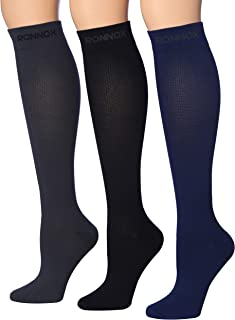 Ronnox 压缩袜 3 双是适合男士旅行、跑步、*、飞行、Edema 的*佳运动和*