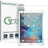 iPad Pro 12.9 屏幕保护玻璃,*代和*二代钢化玻璃屏幕保护膜适用于苹果 iPad Pro 2015 0.33mm 2.5D 圆边(1 包)2015,2017