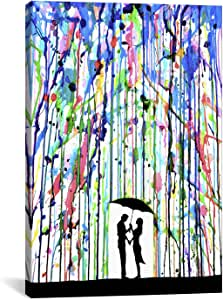 iCanvasART MAE18 Pour Deux by Marc Allante Canvas Print, 12 by 8-Inch, 0.75-Inch Deep