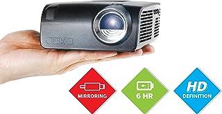 AAXA S2 迷你 LED 投影机,USBC 智能手机笔记本电脑镜像,6 小时内置电池,720p 高清原生分辨率(支持 1080p)便携式投影仪,键盘,HDMI,USB,车载媒体播放器,DLP