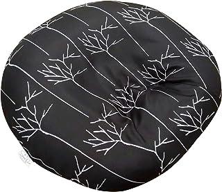 新生儿躺椅套设计师外观 | 可拆卸可洗 | 优质柔软质量 | 不适合 Boppy 婴儿躺椅枕 | *的婴儿沐浴礼物 minky black branches