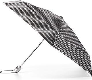 TOTES NeverWet 自动打开迷你雨伞,99.06 厘米遮盖,黑色圆点