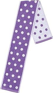 丸真 围巾 葡萄牙制造 提花毛巾 点 紫色 110×14cm 0366031100