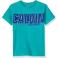 Calvin Klein 男童田径衫带标志圆领T恤