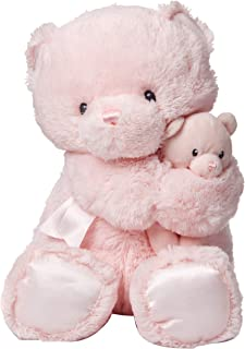Gund 宝宝 Momma & Bear 摇铃毛绒玩具 粉红色 15英寸