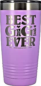 "GIGI 礼物 - ""BEST GIGI EVER ~ LOVE YOU"" GK 大号刻字不锈钢真空隔热玻璃杯旅行咖啡杯热冷*母亲节生日圣诞节 Pastel Lavendar 20 OZ"