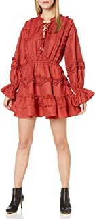 C/MEO COLLECTIVE 女式慢速系带修身喇叭短裙