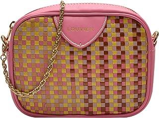 Louvier 编织皮革 Kate 斜挎包,粉色