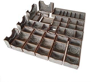 Smonex 木制镰刀棋盘游戏收纳袋 - 盒子适合存放 Scythe Base 游戏、入侵者、远离扩展和促销包 - 令牌盒卡插件